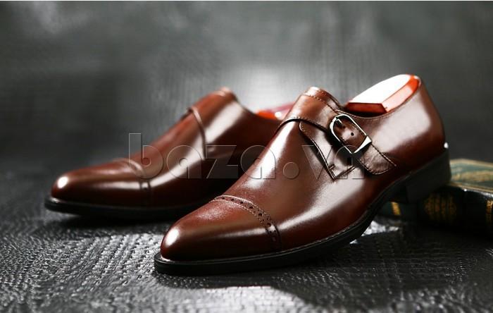 giày nam Olunpo QLXS1305 giúp bạn đánh si dễ dàng