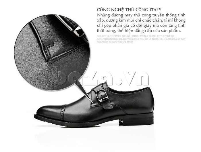giày nam Olunpo QLXS1305 được chế tác từ thủ công italy