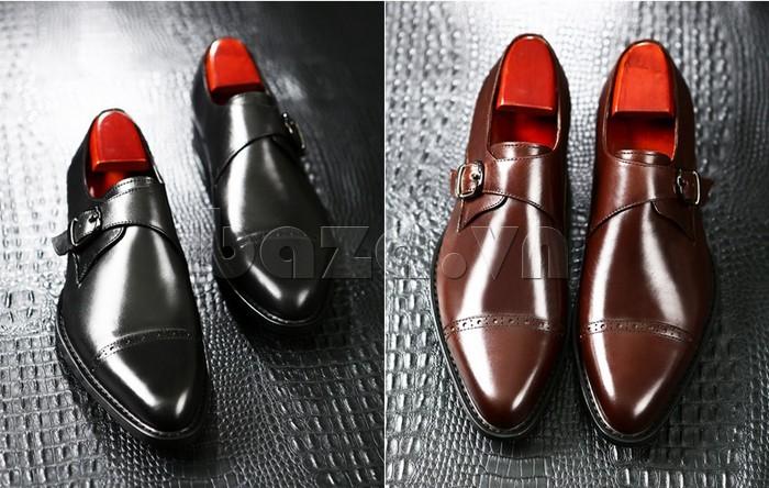 giày nam Olunpo QLXS1305 thường đi đôi với những bộ vest lịch lãm
