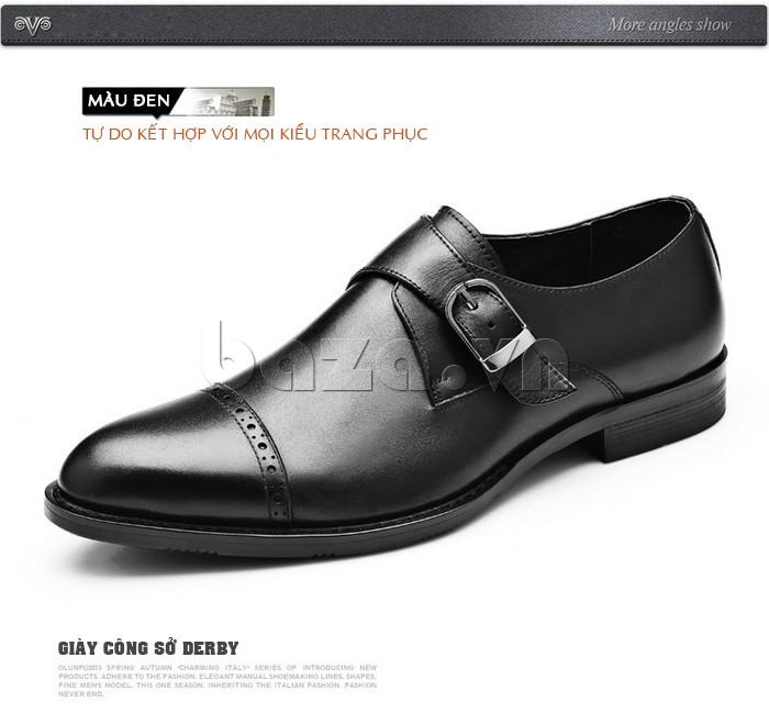 giày nam Olunpo QLXS1305 giúp các chàng tự do kết hợp với mọi trang phục