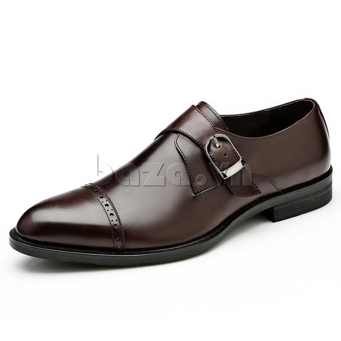giày nam Olunpo QLXS1305 màu socola ấm áp