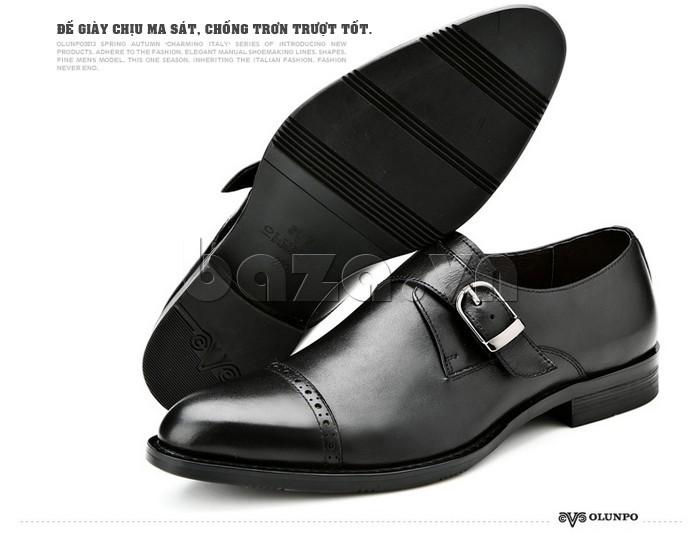 giày nam Olunpo QLXS1305 có đế giày chịu ma sát, chống trơn