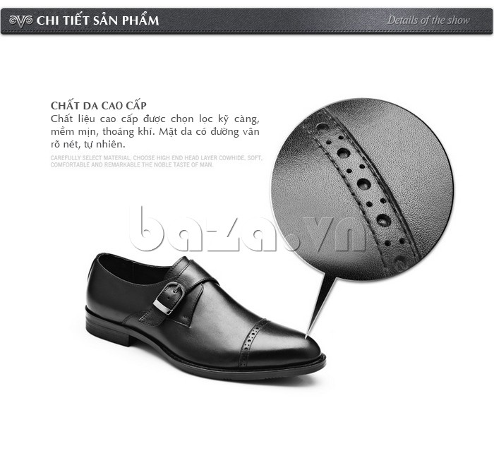 giày nam Olunpo QLXS1305 làm từ chất liệu da cao cấp