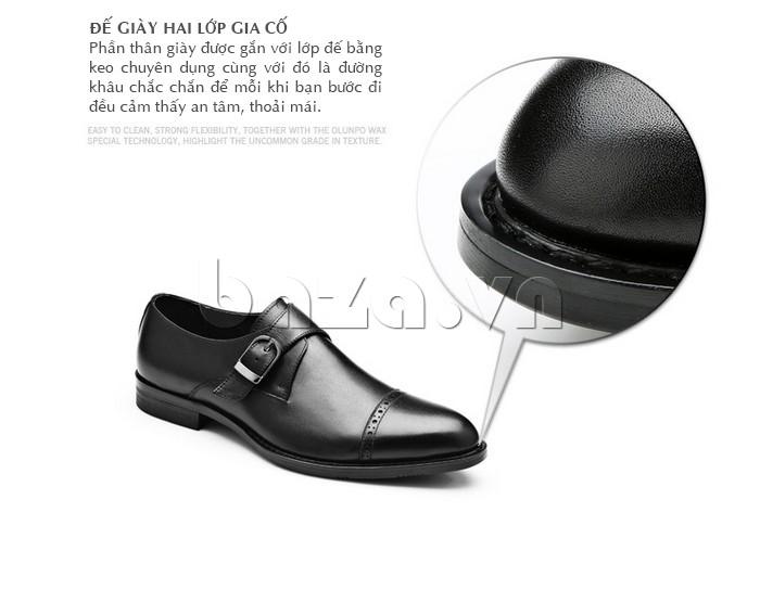 giày nam Olunpo QLXS1305 đế giày hai lớp chắc chắn