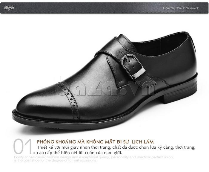 giày nam Olunpo QLXS1305 phóng khoáng mà không mất đi sự lịch lãm