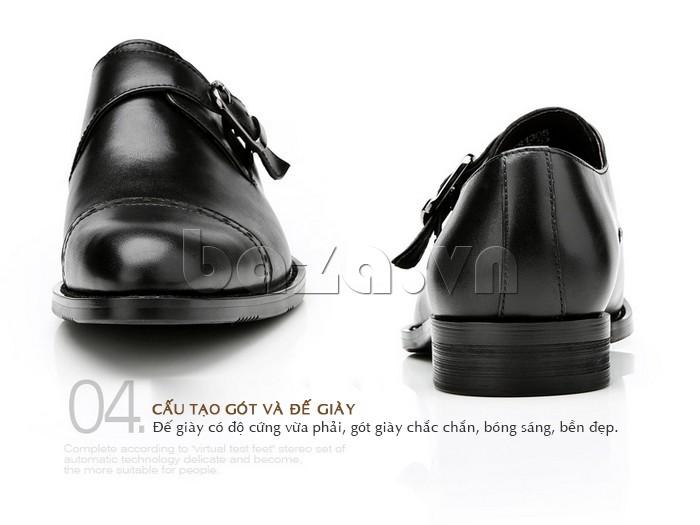 giày nam Olunpo QLXS1305 có đế giày chắc chắn, bền đẹp