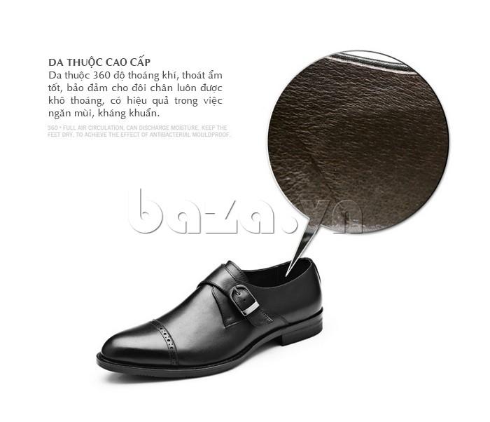 giày nam Olunpo QLXS1305 làm từ da thuộc cao cấp