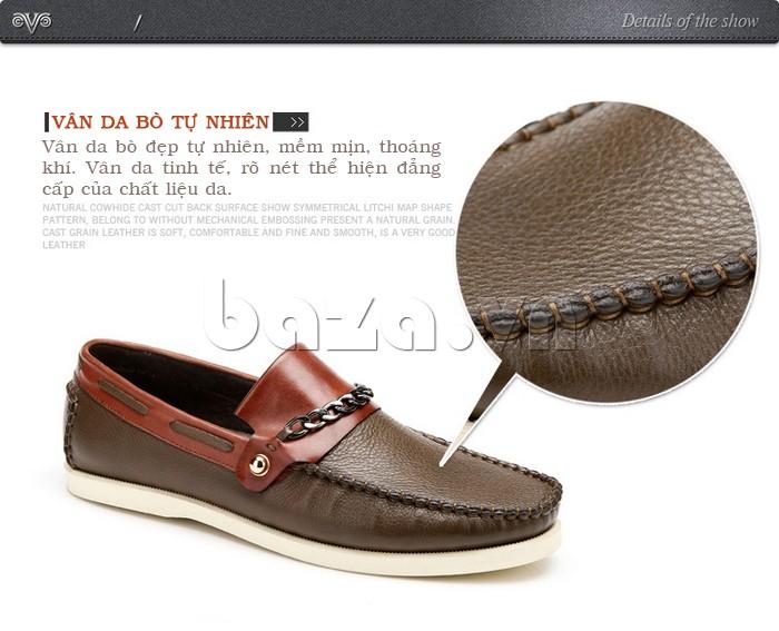 giày nam Olunpo CLXS1221 có vân da bò tự nhiên