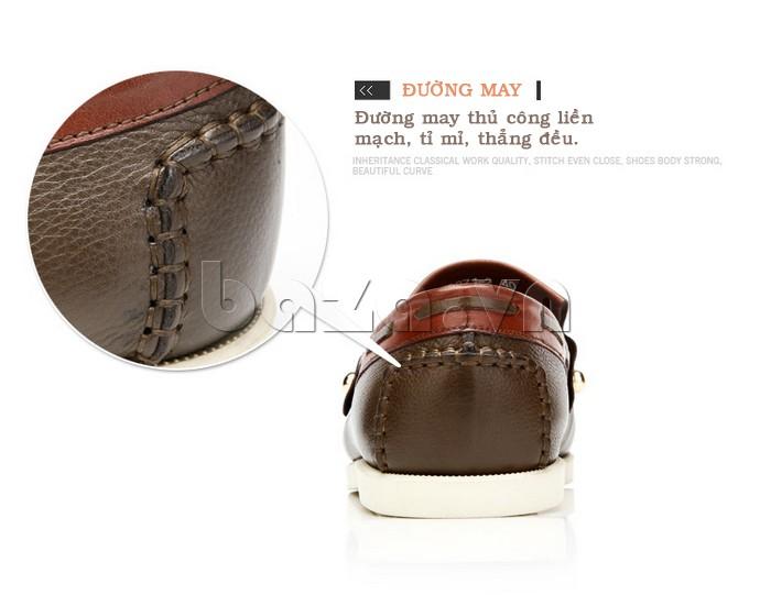 đường may thủ công tỉ mỉ thẳng đều giúp giày nam Olunpo CLXS1221 sang trọng
