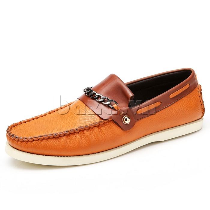 giày nam Olunpo CLXS1221 màu vàng nâu tươi sáng giúp nam giới thể hiện bản lĩnh của mình