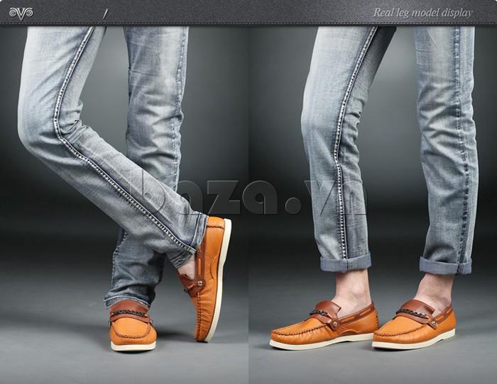 giày nam Olunpo CLXS1221 giày lười trẻ trung