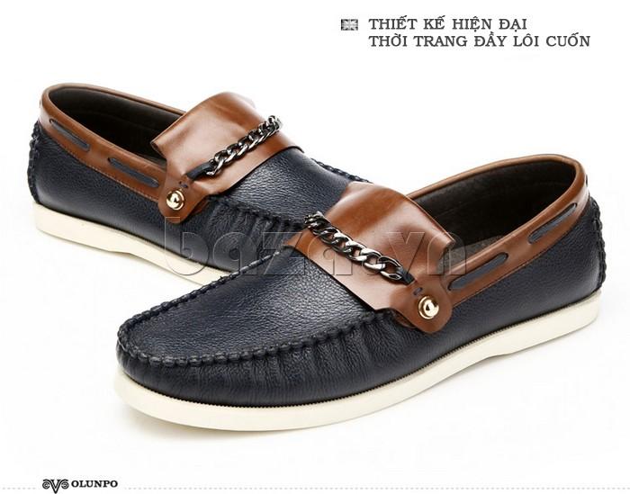 giày nam Olunpo CLXS1221 màu đen sang trọng
