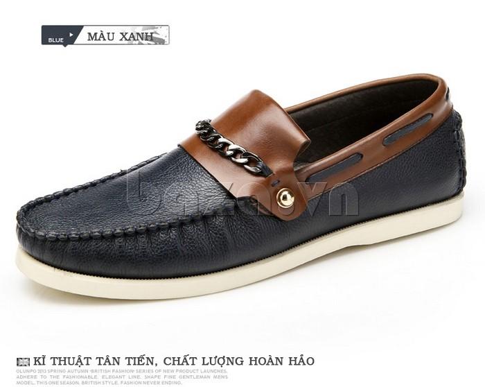 giày nam Olunpo CLXS1221 màu xanh ấn tượng, dễ phối đồ