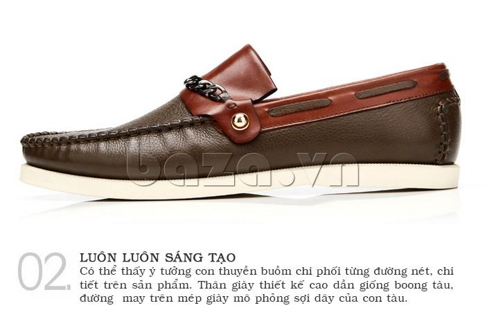 giày nam Olunpo CLXS1221 phong cách hoàng gia quý tộc