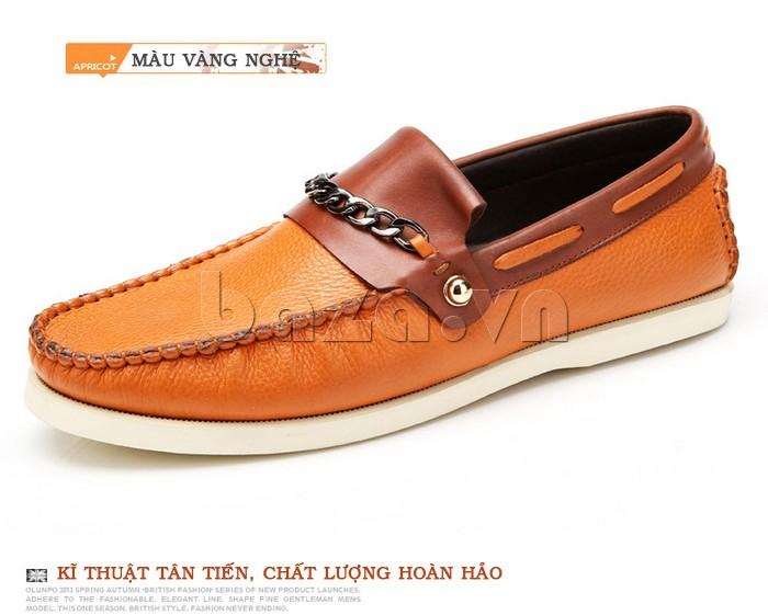 giày nam Olunpo CLXS1221 màu vàng nghệ tươi mới