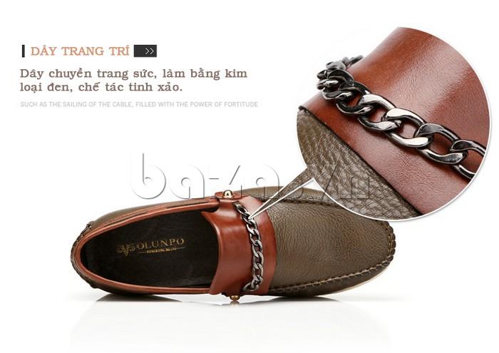Dây đai trang trí của giày nam Olunpo CLXS1221 tinh xảo