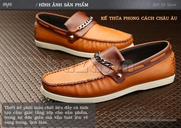 giày nam Olunpo CLXS1221 thiết kế phối màu đầy cá tính