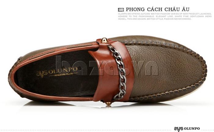 giày nam Olunpo CLXS1221 được thiết kế theo phong cách châu Âu