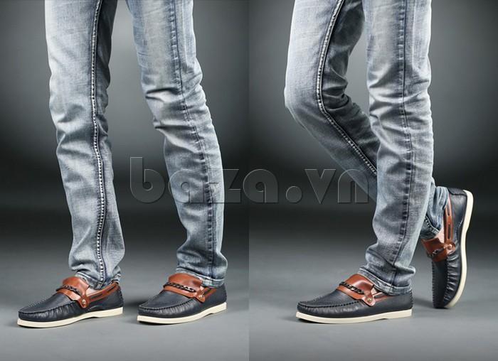 giày nam Olunpo CLXS1221 nên kết hợp với quần jeans