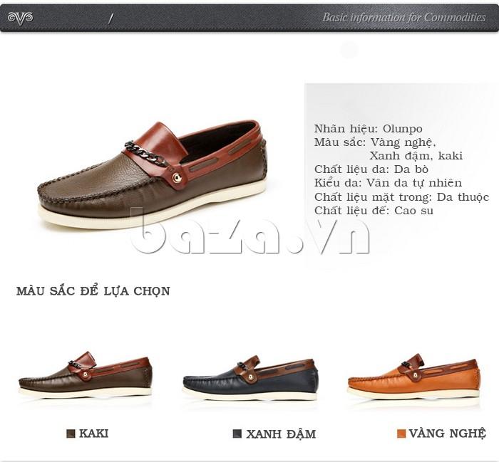 giày nam Olunpo CLXS1221 nhiều màu để lựa chọn