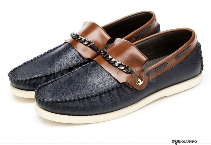 giày nam Olunpo CLXS1221 cá tính với dây đai xích