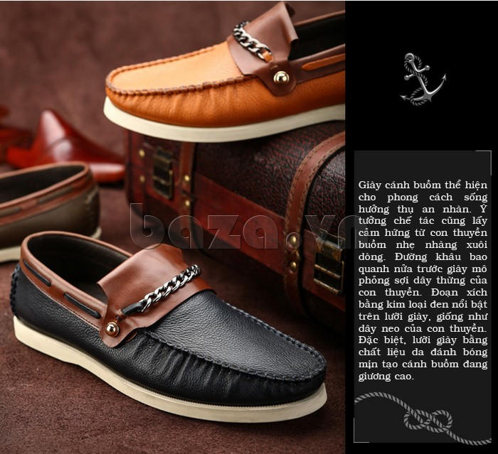 Giày cánh buồm thể hiện phong cách sống hưởng thụ an nhàn, tự tại
