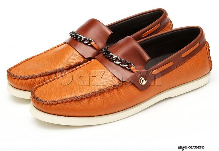 giày nam Olunpo CLXS1221 màu nâu sang trọng