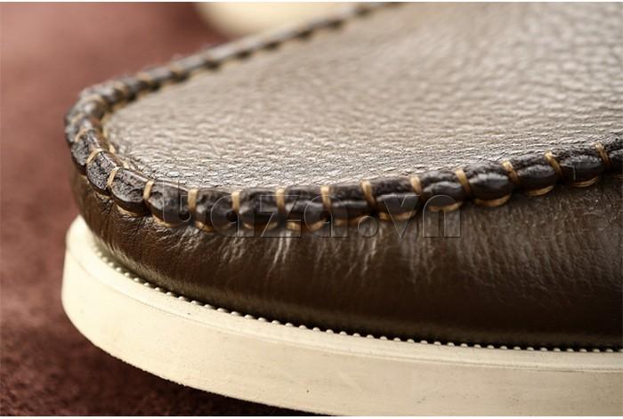 giày nam Olunpo CLXS1221 có đường vân được khâu thủ công tinh tế tỉ mỉ