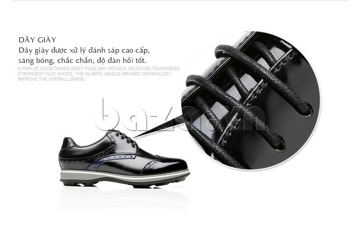 Dây giày được xử lý đánh sáp cao cấp, sáng bóng, chắc chắn