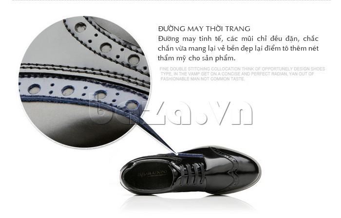 Đường may trên thân giày rất tinh tế và thời trang