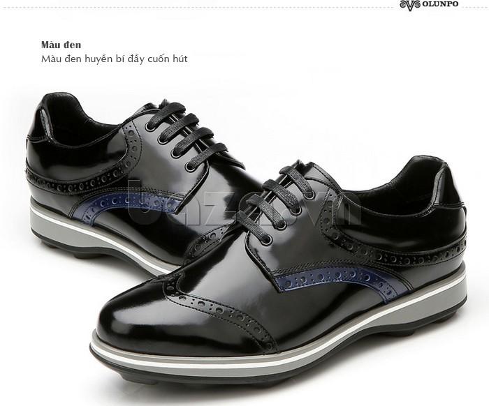 Giầy da nam thời trang Olunpo QLXS1216 màu đen cuốn hút