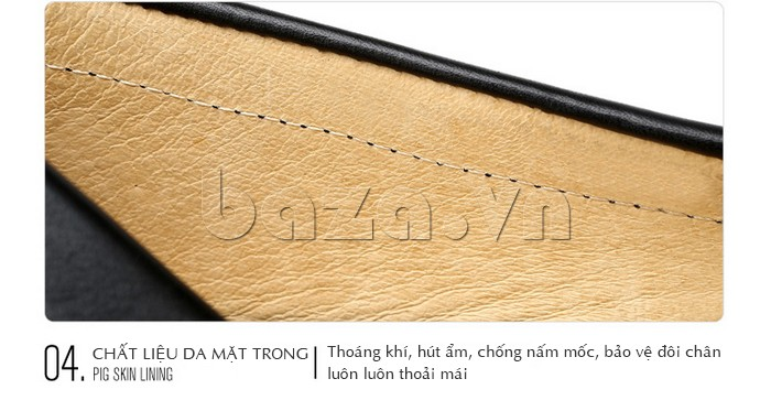 Giầy lười nam Olunpo CHY1402 có chất liệu da mặt trong sang trọng