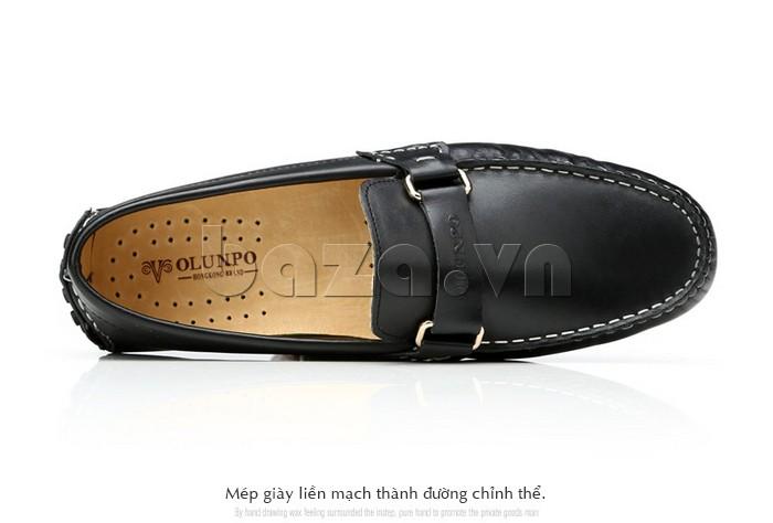 Giầy lười nam Olunpo CHY1402 thiết kế mép giày liên mạch