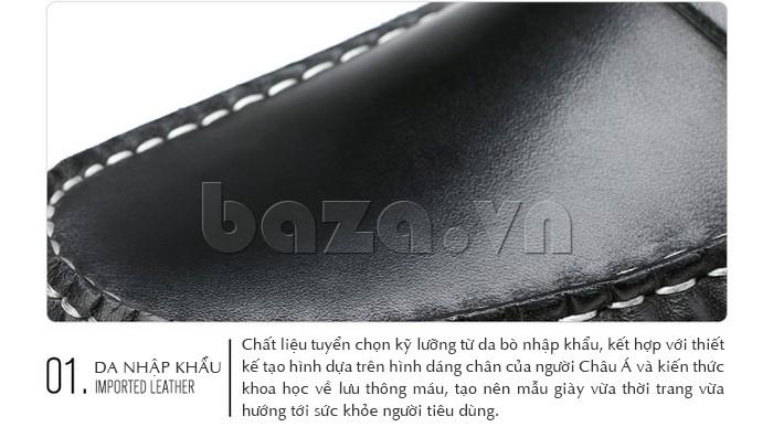Giầy lười nam Olunpo CHY1402 sử dụng chất liệu da nhập khẩu