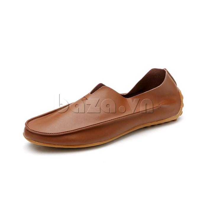 Giày da nam Olunpo trẻ trung sành điệu mẫu màu nâu