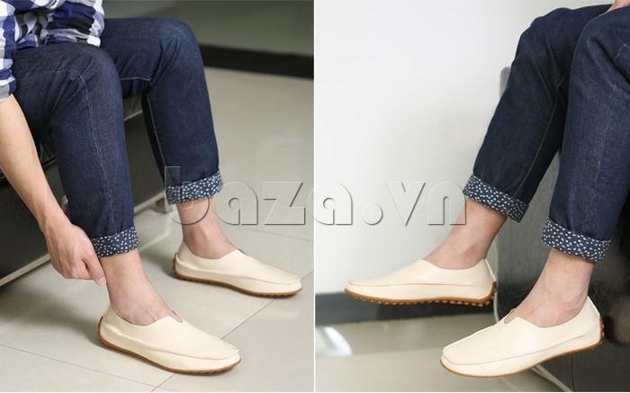 Kiểu dáng giày lười dễ dàng xỏ
