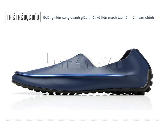 Đường viền xung quanh giày thiết kế liền mạch tạo nên nét độc đáo riêng
