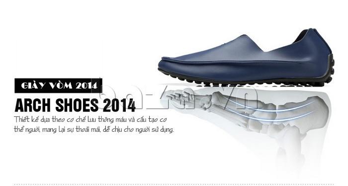 Thiết kế giày dựa theo cơ chế lưu thông máu và cấu tạo cơ thể, mang lại sự thoải mái cho người sử dụng