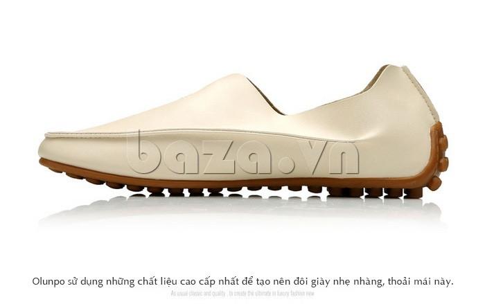 Olunpo sử dụng chất liệu cao cấp để tạo nên đôi giày tốt nhất