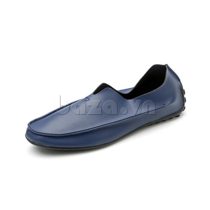 Giày da nam Olunpo trẻ trung sành điệu mẫu màu xanh