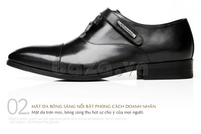 Mặt da giày Olumpo QLXS1217 bóng sáng mang đậm phong cách doanh nhân