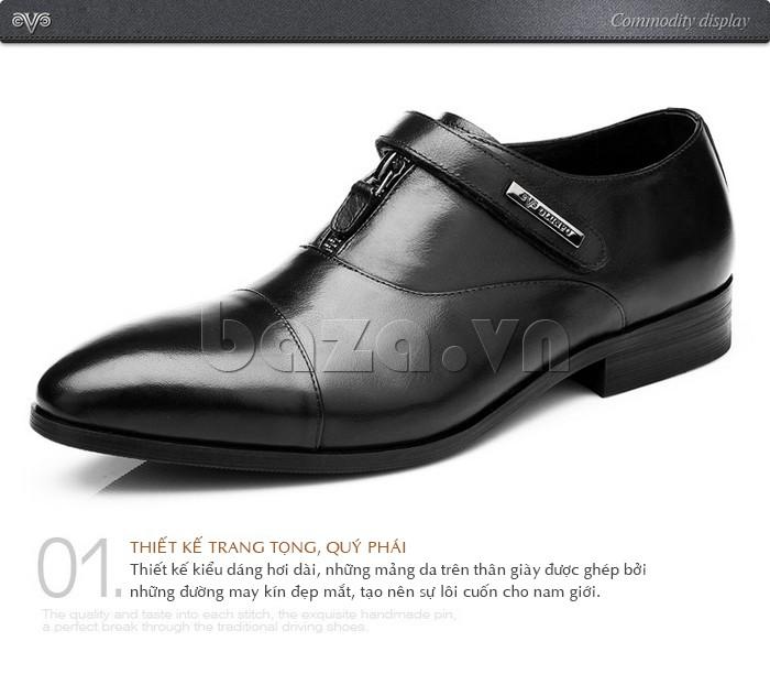 Thiết kế của giày Olumpo QLXS1217 sang trọng và quý phái tạo sự hài lòng cho mọi nam giới