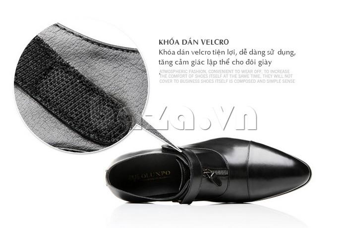 Khóa dán velcro tiện lợi giúp giày Olumpo QLXS1217 dễ dàng sử dụng hơn