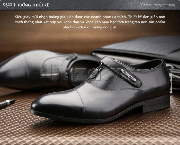giày Olumpo QLXS1217 có ý tưởng thiết kế từ thời trang công sở hiện đại