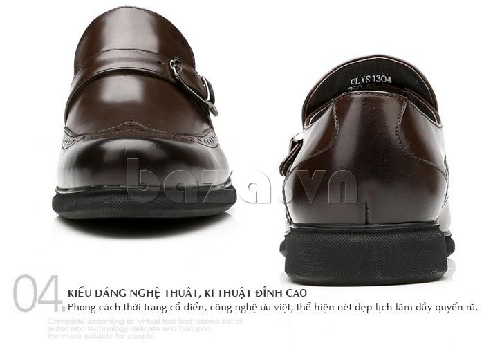 Giày da nam phong cách thời trang cổ điển, công nghệ ưu việt