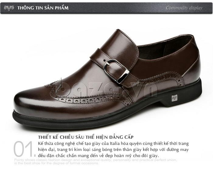 Giày da nam kết hợp giữa công nghệ chế tạo truyền thống của Itali và thiết kế thời trang hiện đại