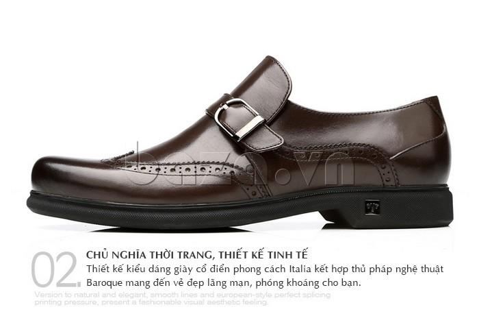 Thiết kế kiểu dáng giày nam cổ điển phong cách Italia
