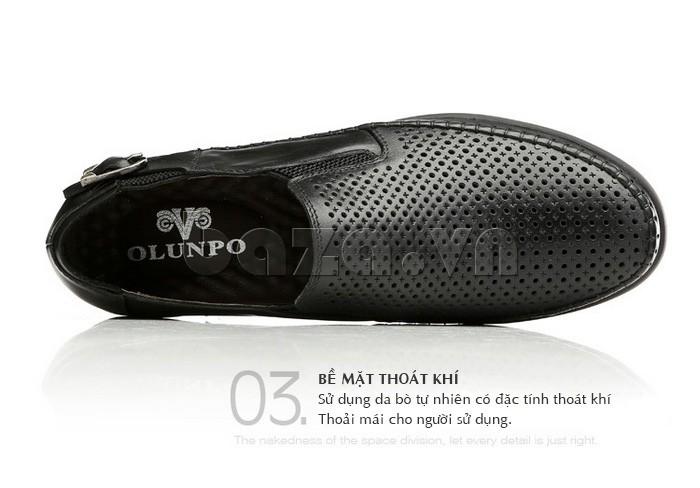 Logo của Giày Olunpo OP001 được trang trí đơn giản mà tinh tế