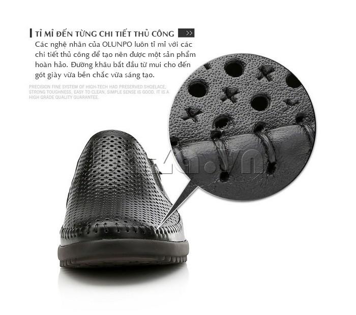 Giày Olunpo OP001 được trang trí đến từng chi tiết