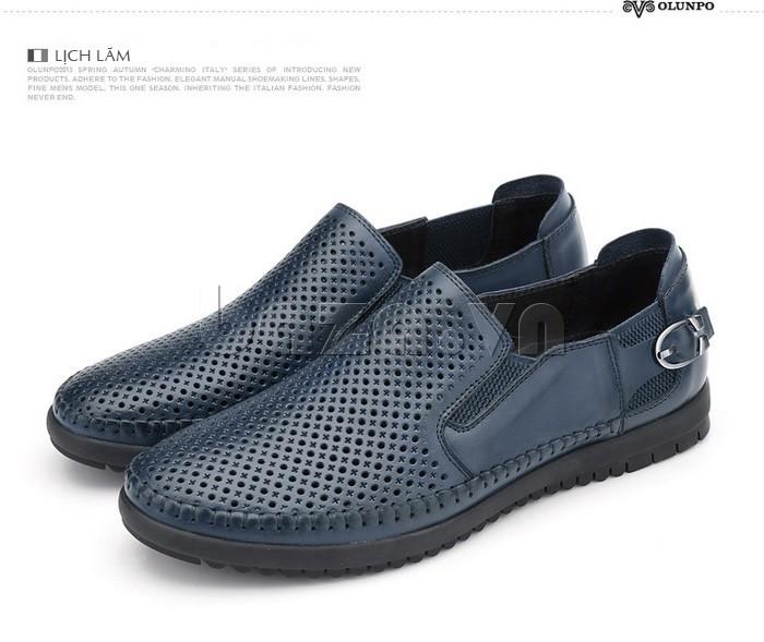 Giày Olunpo OP001 màu xanh lịch lãm